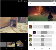 Google Photos movie editor: old and new (Source: Android Police)