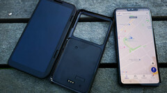 The LG V50 ThinQ and its optional dual-screen case. (Source: Finder)