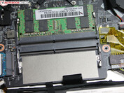 The MSI PS63 Modern 8RC has two SO-DIMM slots, of which one is occupied on our test unit