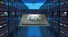 The EPYC 7643 Milan processor has a 225 W TDP. (Image source: AMD/Masterdc - edited)