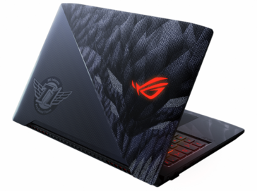 The branded display lid of the Strix SKT T1 Hero edition (Source: Asus)