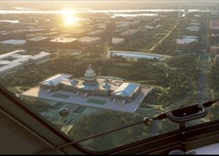 The Capitol Building in Microsoft Flight Simulator World Update II: USA (Source: Xbox Wire)