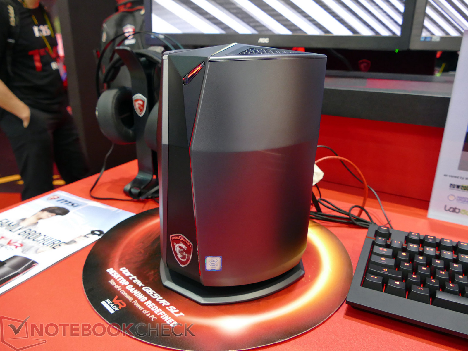 Msi Compact Gaming Desktop Pc Quot Vortex Quot And Vr Backpack