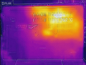 Aspire 3 heat map idle - bottom