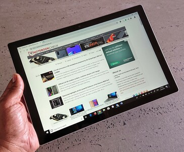 The Surface Pro offers a compelling audio and visual experience. (Image credit: Notebookcheck)