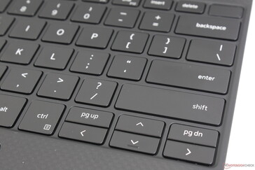 Arrow keys are slighter wider than before, but they're still narrow and cramped to use