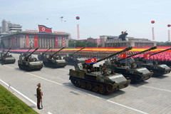 North Korean military parade, North Korean Android malware targets defectors and their supporters