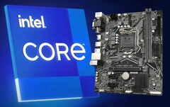 Gigabyte H410M boards have a compatibility workaround for Intel's Rocket Lake processors. (Image source: Intel/Gigabyte - edited)