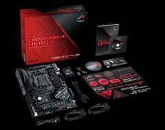 Asus's ROG Crosshair VII Hero motherboard is based on the AMD X470 platform. (Source: Asus)