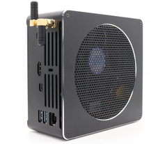 The Intel Core I9-8950HK hexa-core CPU requires quite a bit of ventilation, meaning that these mini PCs will certainly not be quiet. (Source: EGLOBAL)