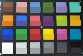 ColorChecker: the target color is displayed in the lower half of each field.
