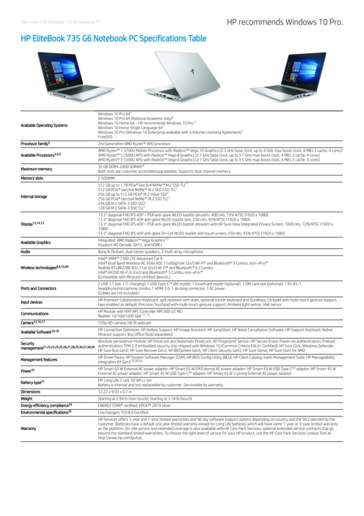 HP EliteBook 735 G6 specifications