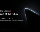 The Realme X50 Pro 5G will be launched during an online event on February 24. (Image Source: Realme)