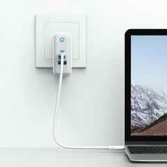 The Anker PowerPort+ Atom III 2-port charger. (Source: Anker)