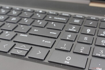 NumPad keys are the same size as the QWERTY keys unlike on most other laptops, but the Arrow keys are too small