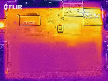 Thermal imaging during idle - bottom