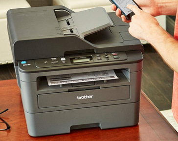 Most laser printers have a larger footprint than inkjet printers. (Image via Amazon)