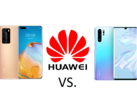 How big are the differences between the Huawei P40 Pro (left) and the Huawei P30 Pro (right)?