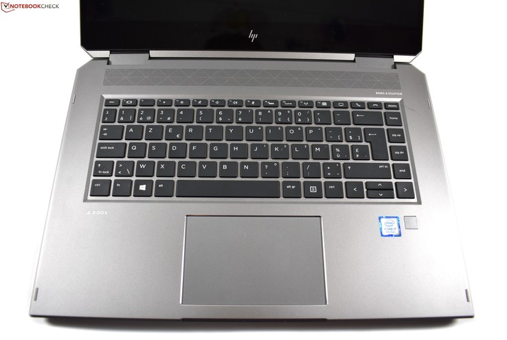 Keyboard-area HP ZBook Studio x360