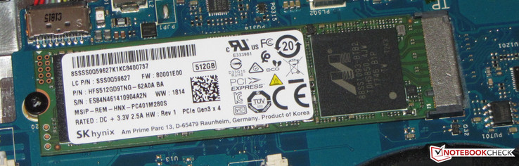 An NVMe SSD is included
