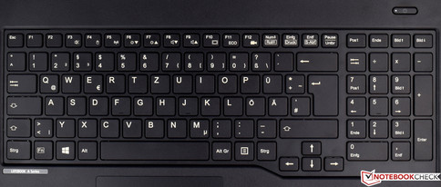 Keyboard of the Fujitsu LifeBook A557