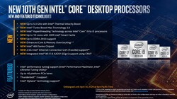Intel Core i9-10900K: new features (source: Intel)