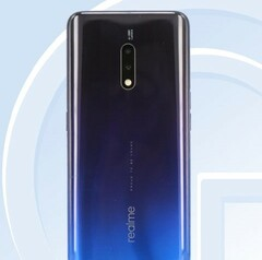 The Realme X in its Blue shade. (Source: TENAA)