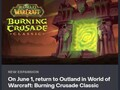 World of Warcraft: Burning Crusade Classic release date screenshot (Source: Nonbread on Reddit)