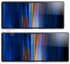 In landscape mode, the CinemaWide displays of the Sony Xperia 10 and 10 Plus should appeal to cinephiles. (Source: WinFuture)