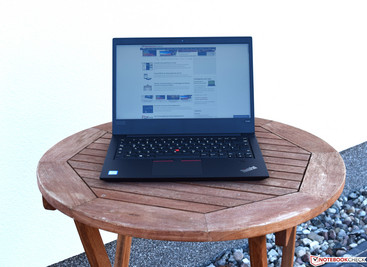 Lenovo ThinkPad E480 in the shade