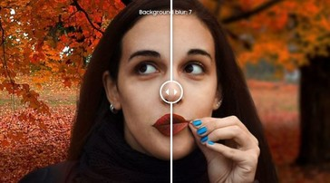 The edited photo on Samsung's website but with a bokeh slider. (Source: DIYPhotography)