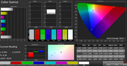 CalMAN color space – Vivid, Warm
