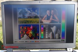 Using the Schenker XMG Ultra 17 in direct sunlight