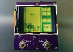 Barker's DIY handheld can not only run GameBoy games, but those of other classic consoles as well. (Source: Hackaday.io)