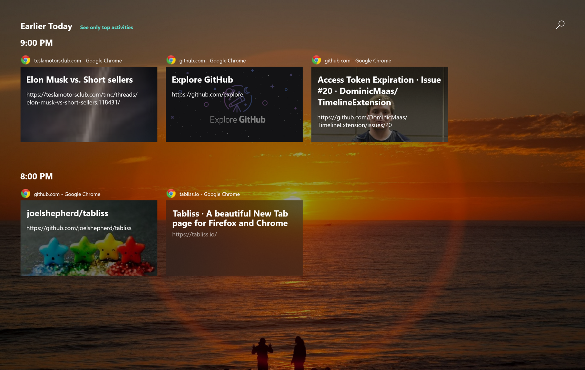 Windows Timeline Third-Party Extensive Lands on Firefox