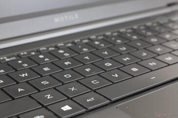 Main QWERTY keys are soft and relatively quiet