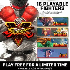 Street Fighter V now free for Windows and PlayStation 4 gamers (Source: Steam)
