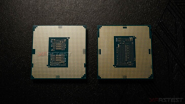 Intel Core i9-10900 (left) placed beside the Core i9-9900 KS. (Image Source: XFastest)