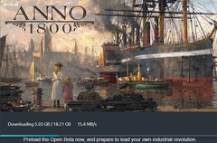Anno 1800 Open Beta pre-loading (Source: Own)