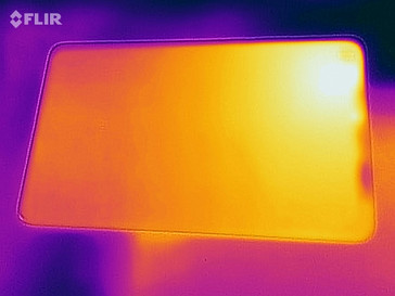 Heatmap of the rear of the device under load