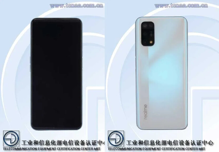 The Realme RMX2111/2 on TENAA. (Source: TENAA via 91Mobiles)
