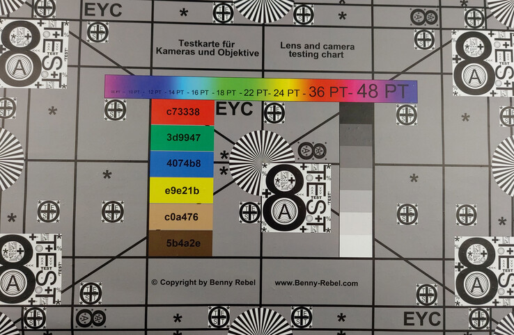 Test chart – perfectly illuminated