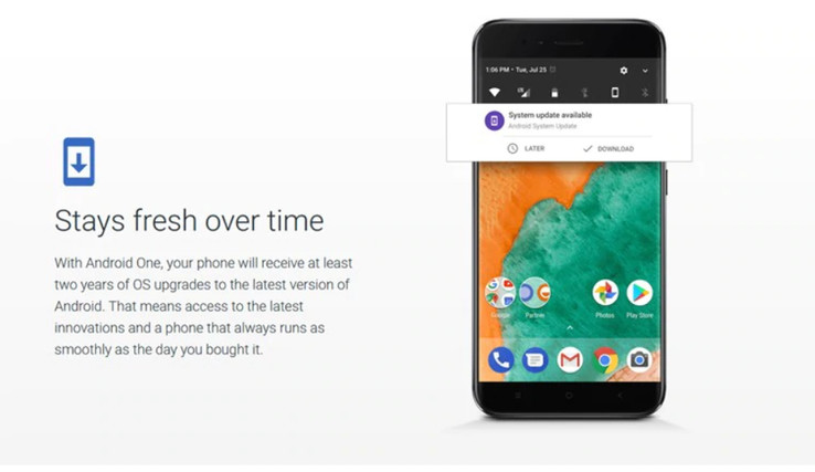 This section of text is no longer to be found on the Android One website. (Source: India Today)
