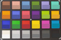 ColorChecker wide-angle camera. Bottom half of each square represents the reference color.