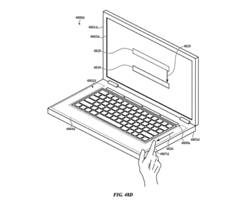 Here, the sides of the keyboard are touch sensitive while the physical keyboard lies recessed. (Source: Mashable)