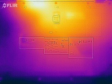 Surface temperatures stress test (bottom side)