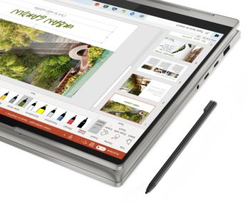 integrated digitizer pen of the Lenovo convertible