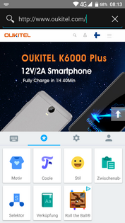 Oukitel K6000 Plus - access on cache and cursor behavior