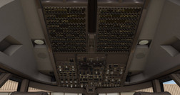 Default X-Plane 11 Boeing 747 overhead panel. (Source: Laminar Research)