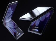 The Galaxy Z Flip might look like this. (Source: LetsGoDigital)